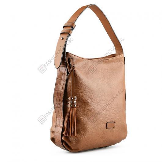 Кафявя дамска ежедневна чанта Qadira