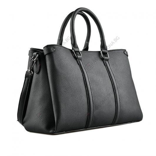 Черна дамска ежедневна чанта Amala