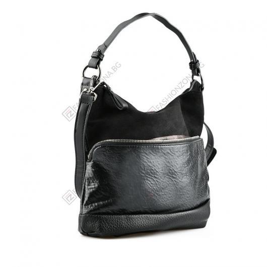 Черна дамска ежедневна чанта Zyanya