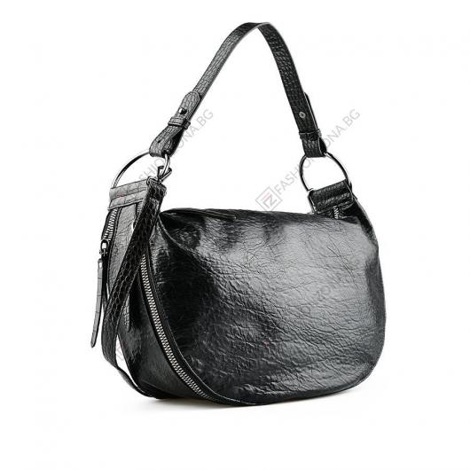 Черна дамска ежедневна чанта Desdemona