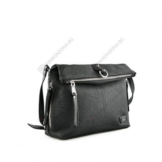 Черна дамска ежедневна чанта Roseanne
