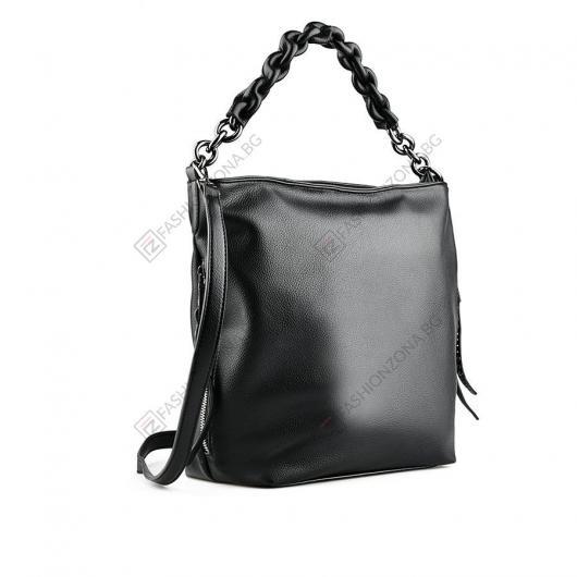 Черна дамска ежедневна чанта Hillevi