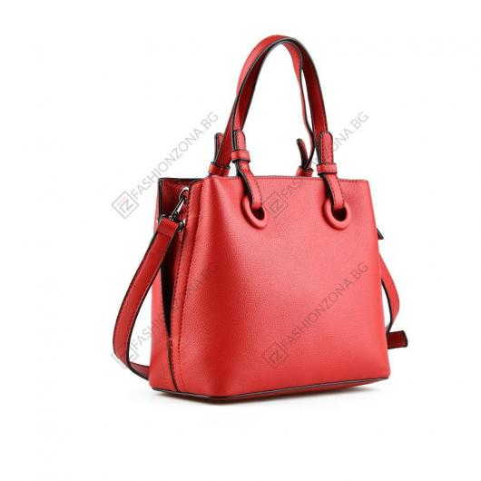 Червена дамска ежедневна чанта Carissa