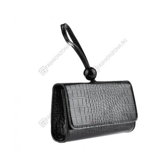 Черна дамска ежедневна чанта Firenze