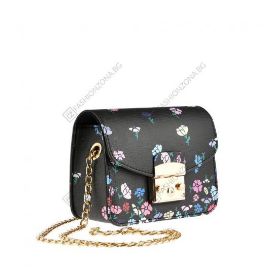 Черна дамска ежедневна чанта Qamar