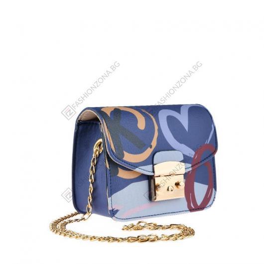 Лилава дамска ежедневна чанта Aslog