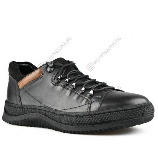 Черни мъжки ежедневни обувки Alfredo