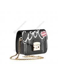 Черна дамска ежедневна чанта Libby