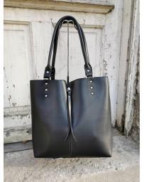 Черна дамска ежедневна чанта Linh
