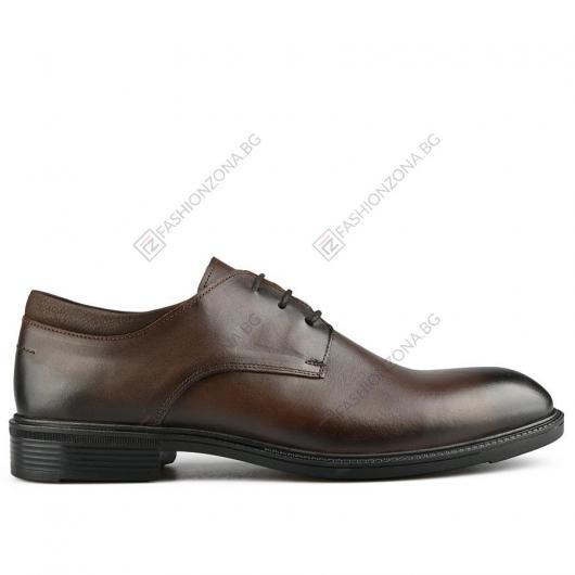 Кафяви мъжки елегантни обувки Silvestio