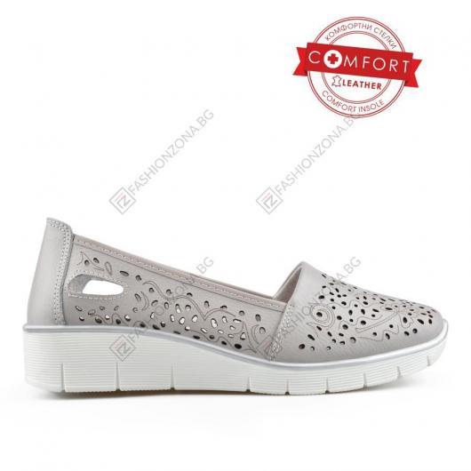 Сиви дамски ежедневни обувки Jagna
