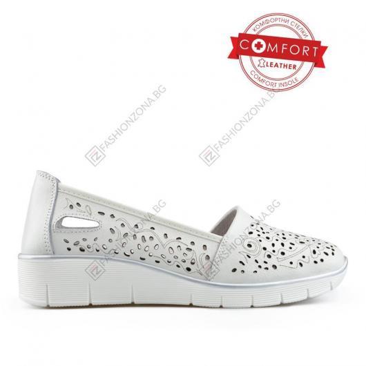 Бели дамски ежедневни обувки Phonphan