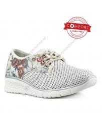 Бели дамски ежедневни обувки Devika