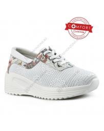 Бели дамски ежедневни обувки Reanna