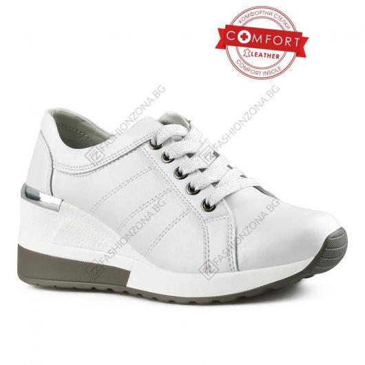 Бели дамски ежедневни обувки Malvina
