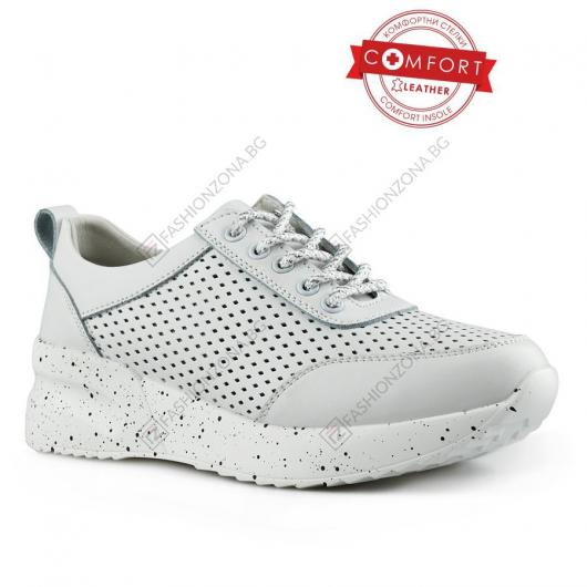 Бели дамски ежедневни обувки Nixie