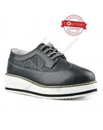Черни дамски ежедневни обувки Natesa