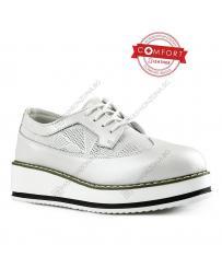 Бели дамски ежедневни обувки Jiang