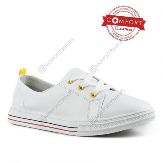 Бели дамски ежедневни обувки Mahlah