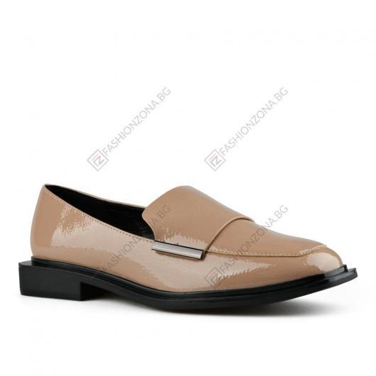 Бежови дамски ежедневни обувки Zavia