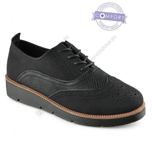 Черни дамски ежедневни обувки Samorn