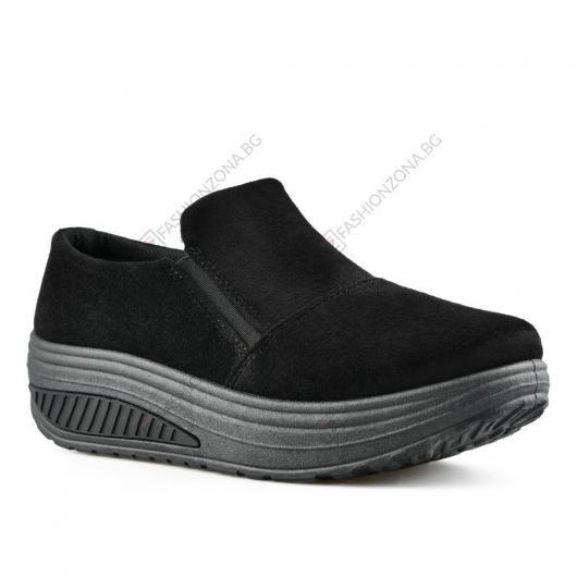 Черни дамски ежедневни обувки Methotase