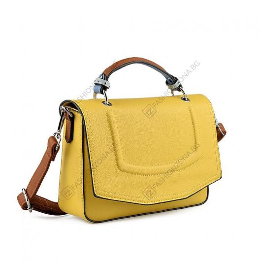 Жълта дамска ежедневна чанта Piti