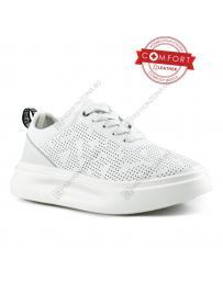 Бели дамски ежедневни обувки Helma