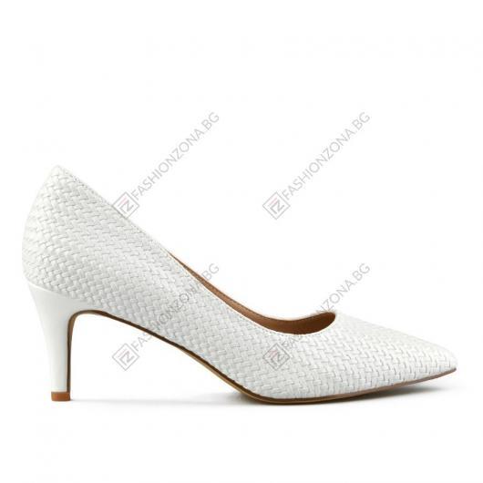 Бели дамски елегантни обувки Dahab
