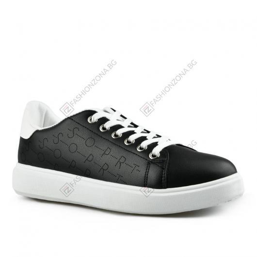 Черни дамски ежедневни обувки Belgin