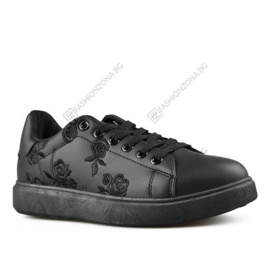 Черни дамски ежедневни обувки Portia