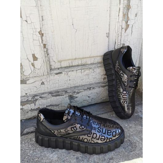 Черни дамски ежедневни обувки Dara