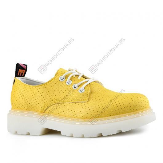 Жълти дамски ежедневни обувки Gunhild