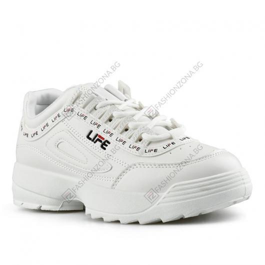 Бели дамски ежедневни обувки Puanani