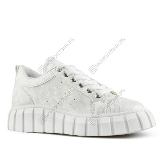 Бели дамски ежедневни обувки Lis