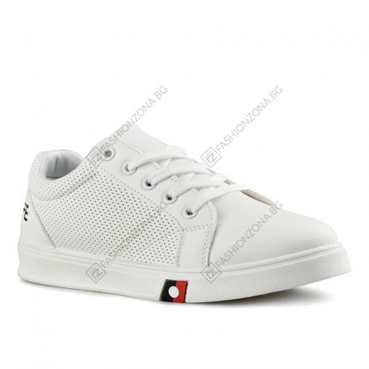 Бели дамски ежедневни обувки Chrysanthe