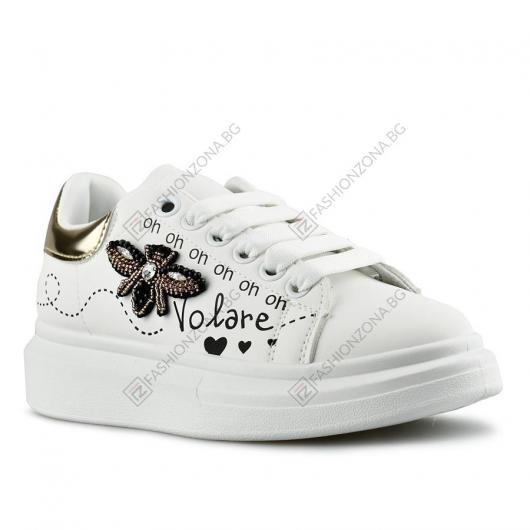 Бели дамски ежедневни обувки Umut