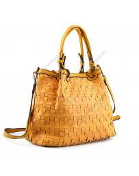 Жълта дамска ежедневна чанта Haloke