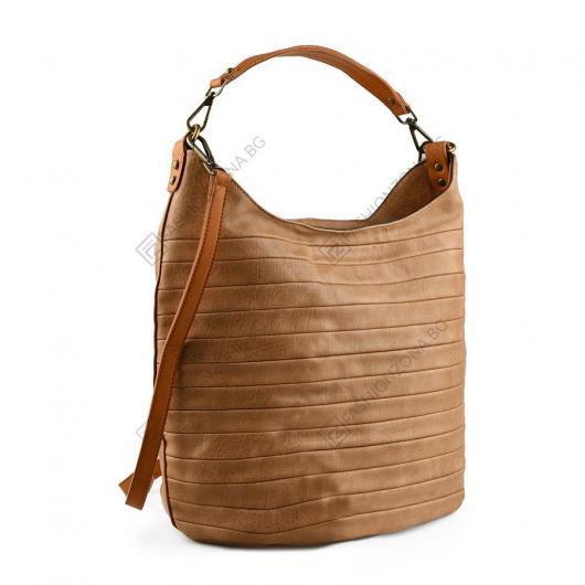 Кафява дамска ежедневна чанта Nyx