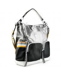 Сребриста дамска ежедневна чанта Mckenzie