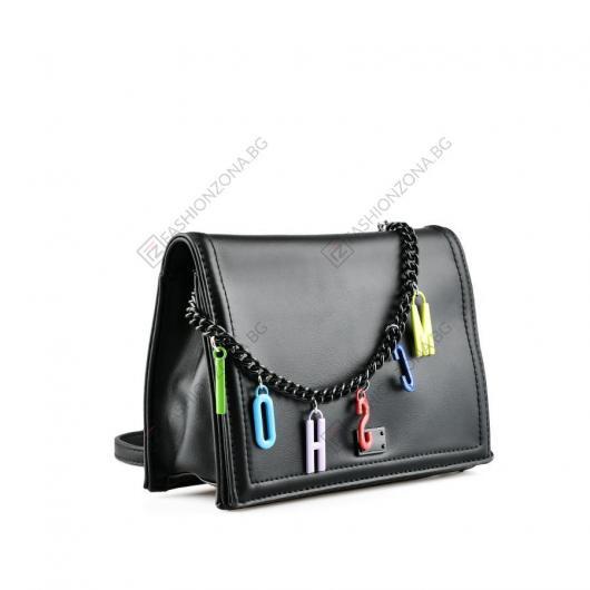 Черна дамска ежедневна чанта Signe