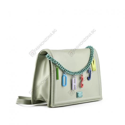 Зелена дамска ежедневна чанта Shu
