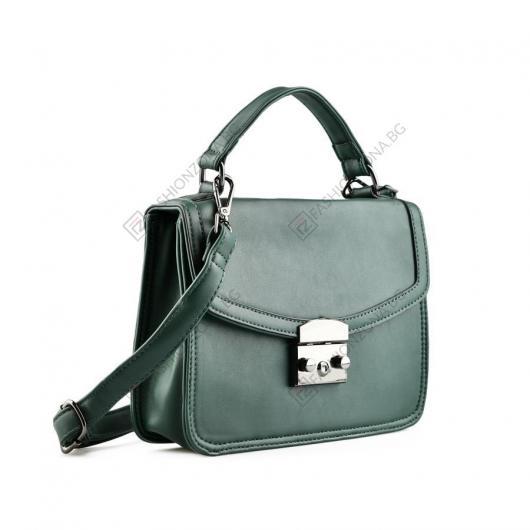 Зелена дамска ежедневна чанта Sabah