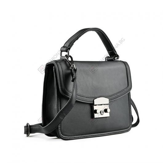 Черна дамска ежедневна чанта Szandra