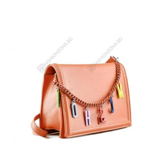 Оранжева дамска ежедневна чанта Saffron