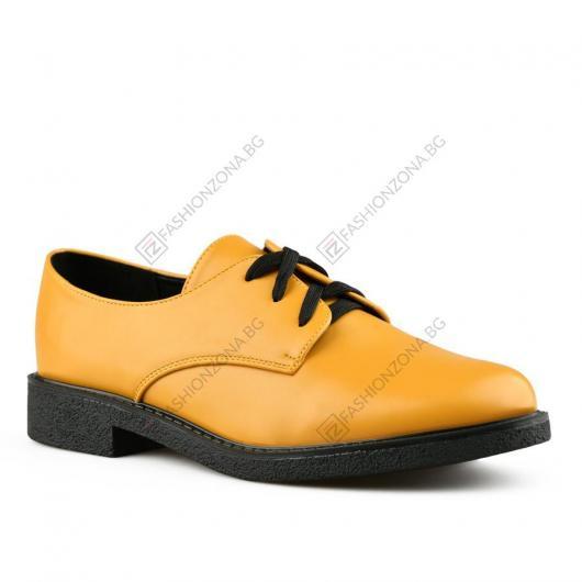 Жълти дамски ежедневни обувки Nahla