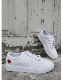 Бели дамски ежедневни обувки Delphina