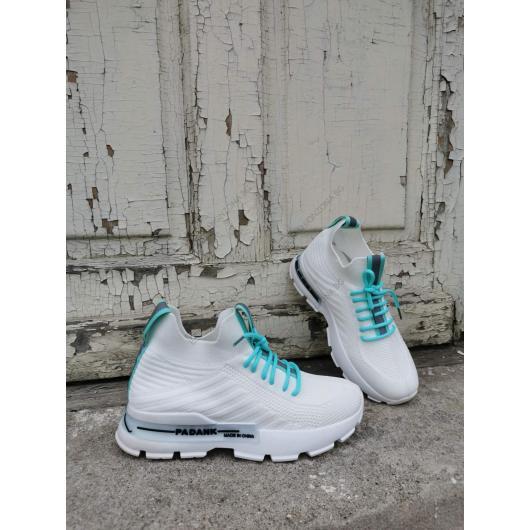 Бели дамски ежедневни обувки Zenaida
