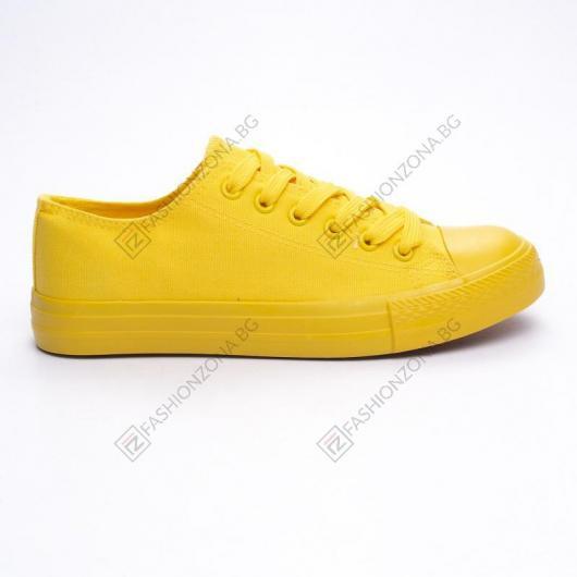 Жълти дамски ежедневни обувки Pocahontas