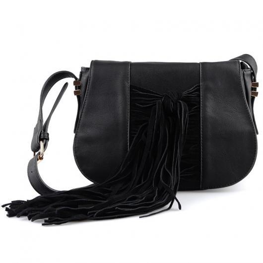 Черна дамска ежедневна чанта Joliet